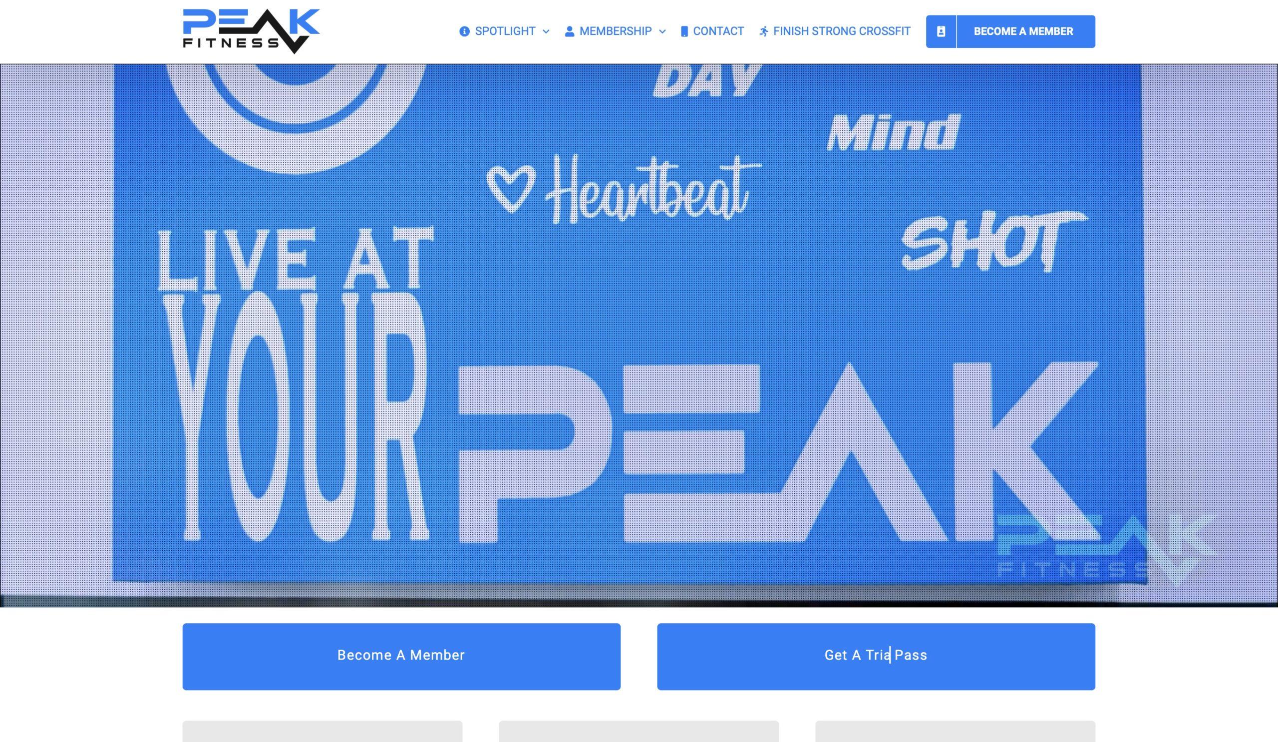 PEAK Fitness Homepage