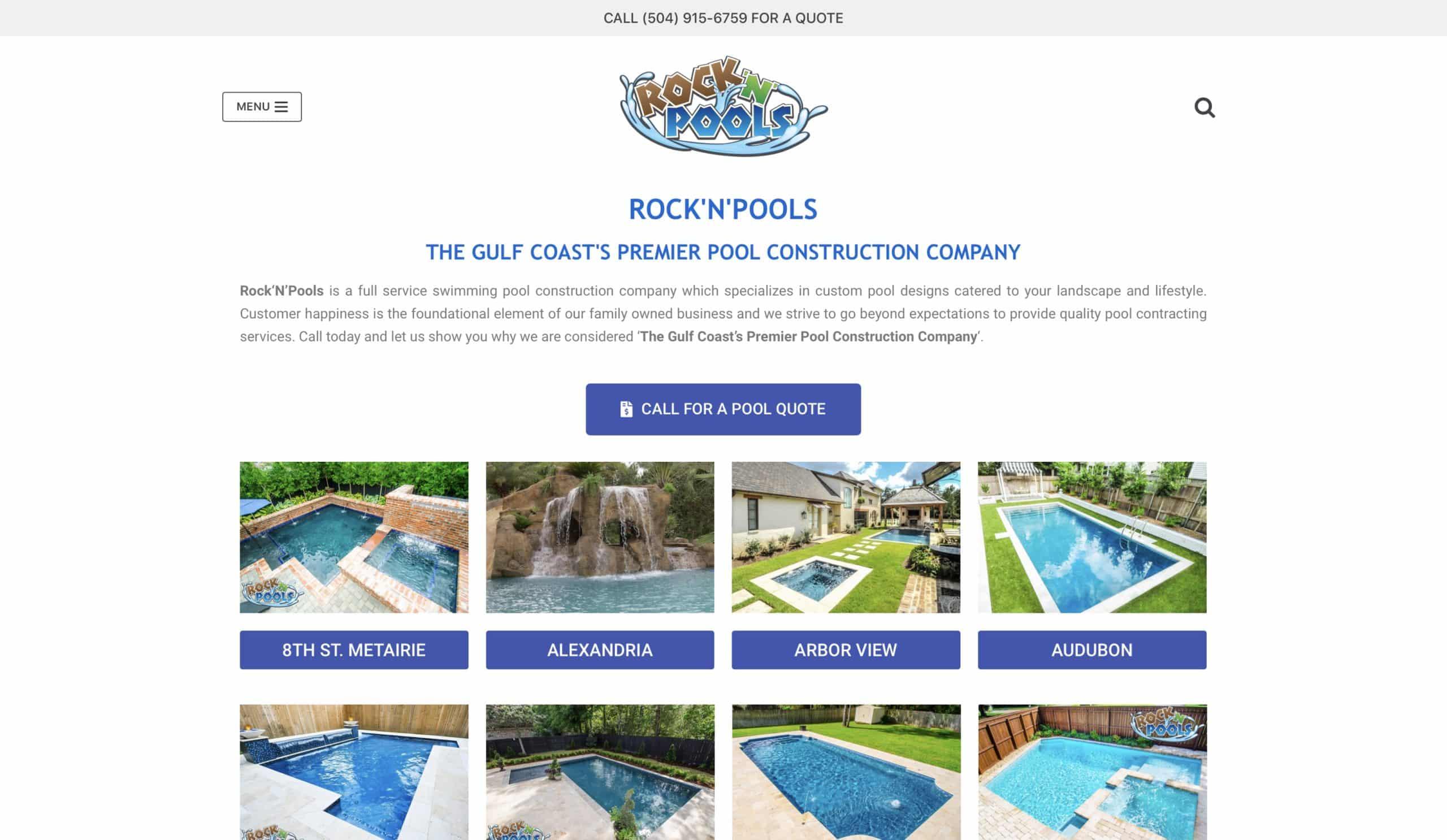 RockNPools Homepage