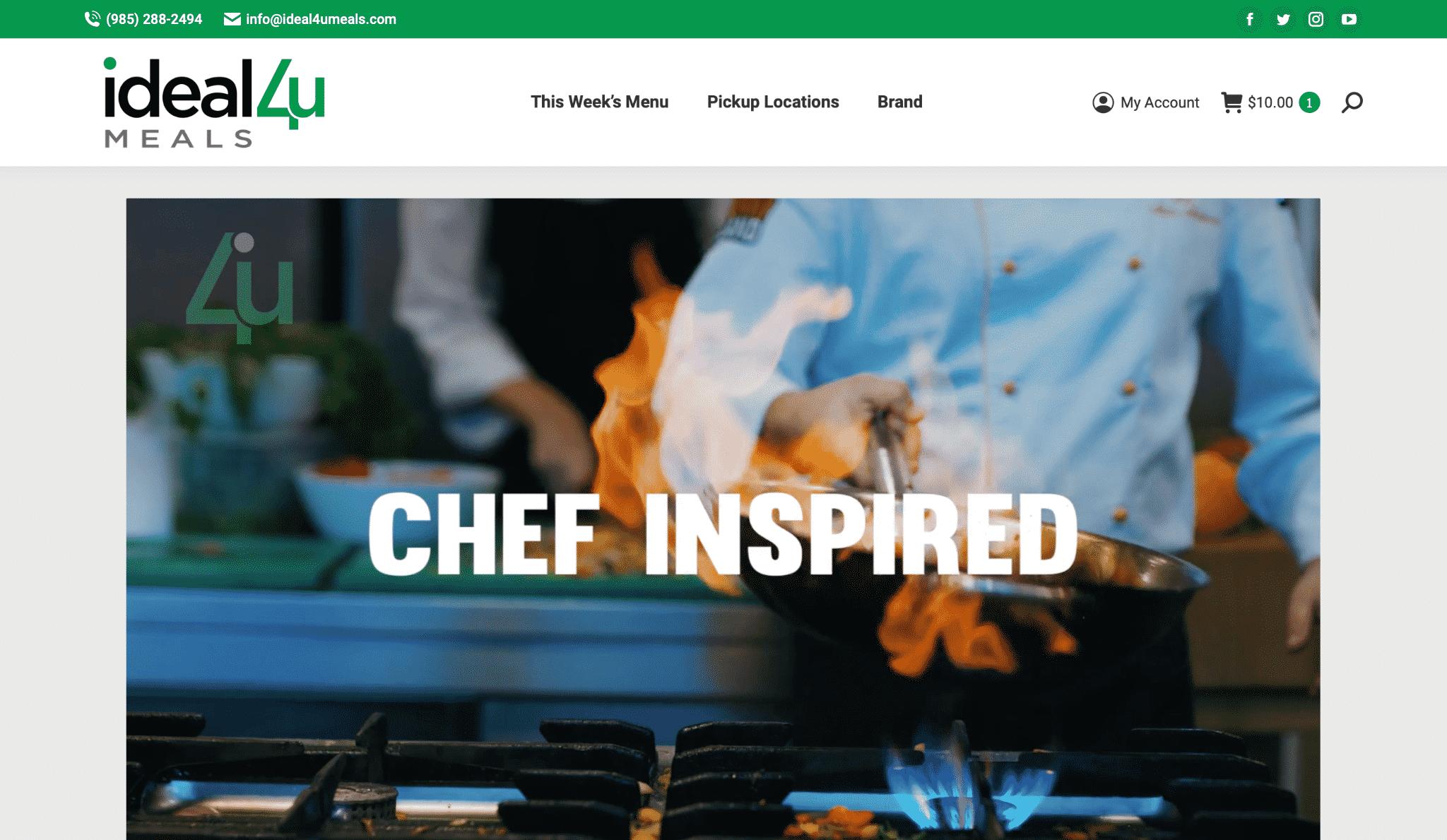 BaseLynk Ideal4UMeals Homepage